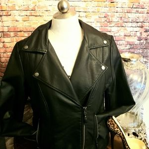 Max studio leather jacket